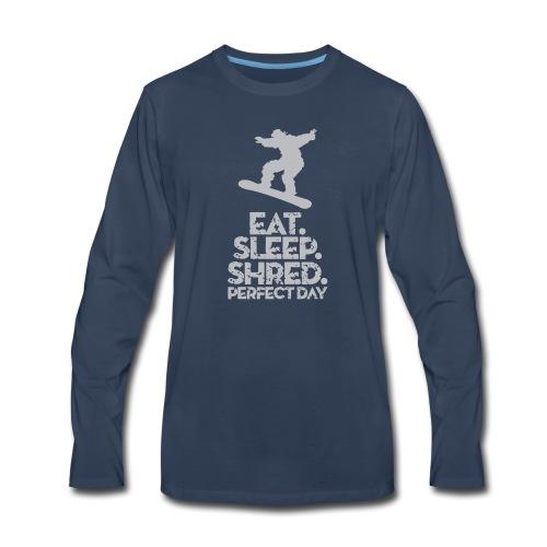 Snowboarder Shred - Men's Premium Long Sleeve T-Shirt