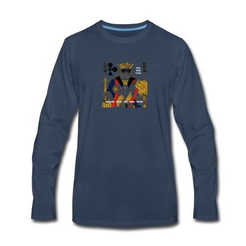 Easy Card Tricks 101 Logo - Men's Premium Long Sleeve T-Shirt