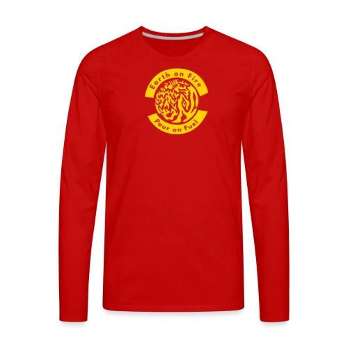 earth on fire again - Men's Premium Long Sleeve T-Shirt