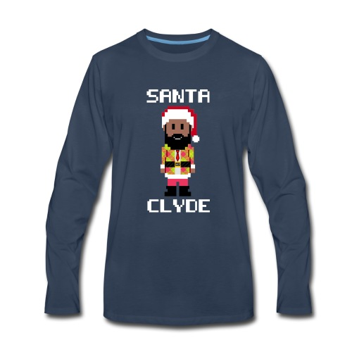 Santa Clyde So Fly (8-Bit) - Men's Premium Long Sleeve T-Shirt