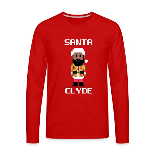 Santa Clyde So Fly (8-Bit) - Men's Premium Long Sleeve T-Shirt