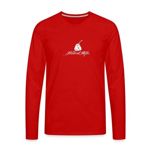 Natural Highs Logo In White - Men's Premium Long Sleeve T-Shirt
