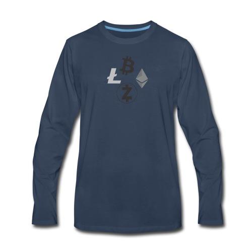 Crypto Cluster T-shirt - Men's Premium Long Sleeve T-Shirt