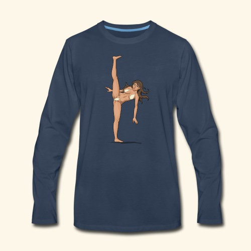 high kick - Men's Premium Long Sleeve T-Shirt