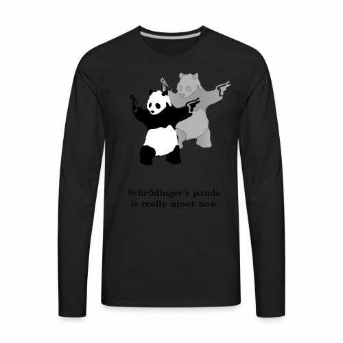 Schrödinger's panda is really upset now - Men's Premium Long Sleeve T-Shirt