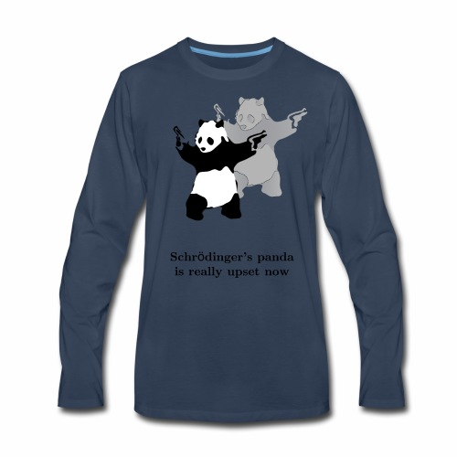 Schrödinger's panda is really upset now - Men's Premium Long Sleeve T-Shirt