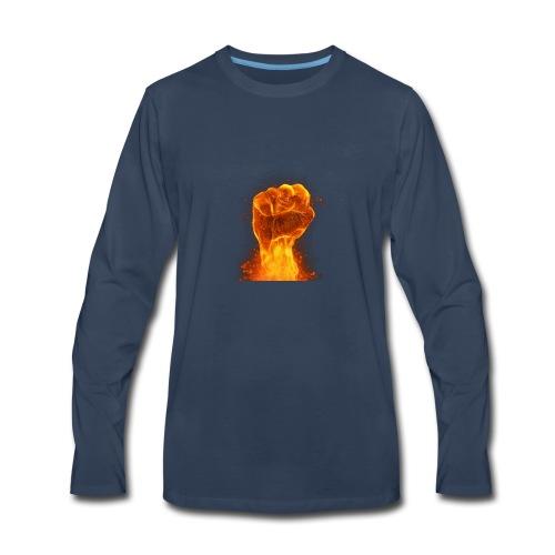 FIST OF FIRE - Men's Premium Long Sleeve T-Shirt