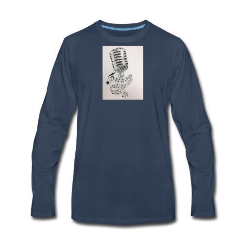 Microphone - Men's Premium Long Sleeve T-Shirt