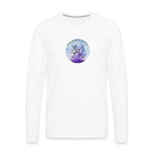 everyday is a new adventure logo - Men's Premium Long Sleeve T-Shirt