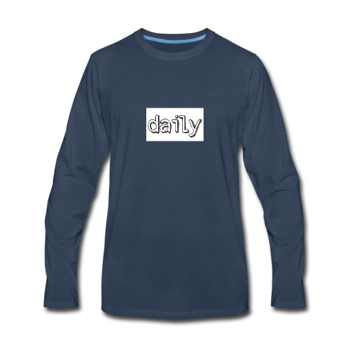 daily merch - Men's Premium Long Sleeve T-Shirt