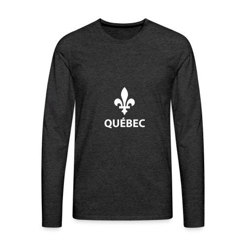 Québec - T-shirt Premium à manches longues pour hommes