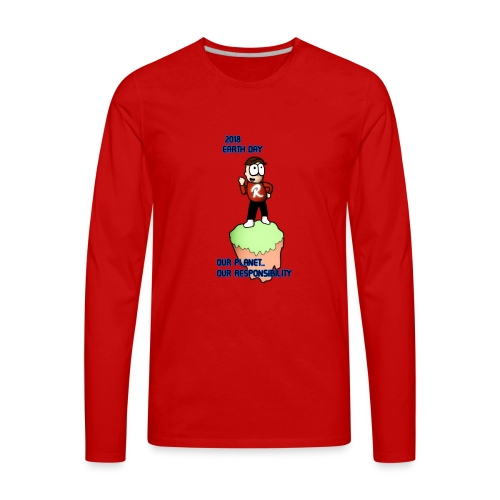 Earth day R3KT #ProtectThePlanet - Men's Premium Long Sleeve T-Shirt
