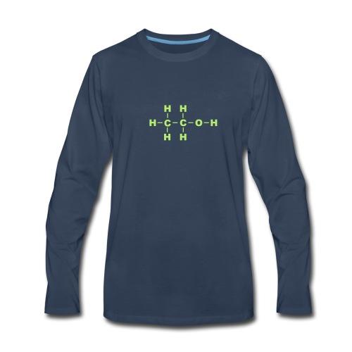 Alcohol Molecule - Men's Premium Long Sleeve T-Shirt