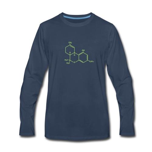 Marijuana (THC) Molecule - Men's Premium Long Sleeve T-Shirt