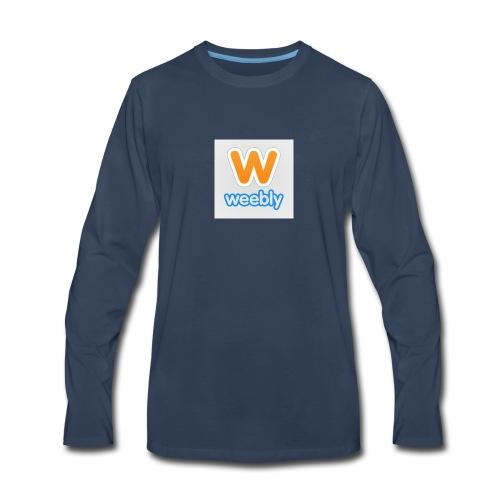 weebly logo - Men's Premium Long Sleeve T-Shirt