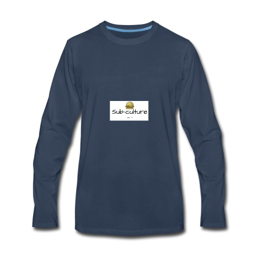 Sub-culture burger logo - Men's Premium Long Sleeve T-Shirt