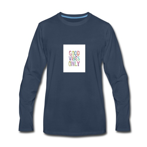 good vibes - Men's Premium Long Sleeve T-Shirt