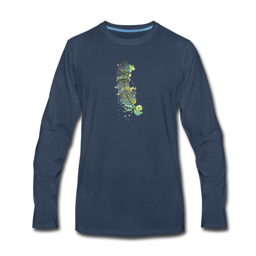 Geometric Feather - Men's Premium Long Sleeve T-Shirt