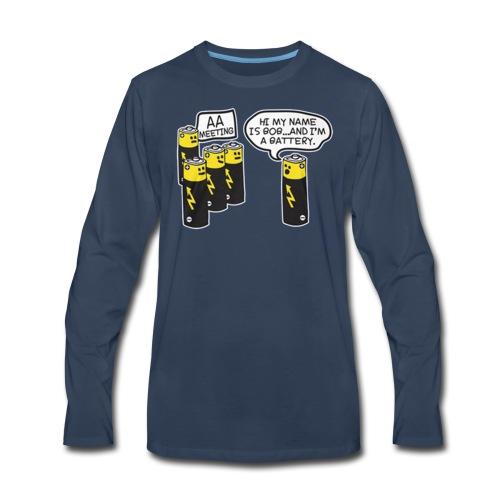 AA BATTERY FUNNY - Men's Premium Long Sleeve T-Shirt