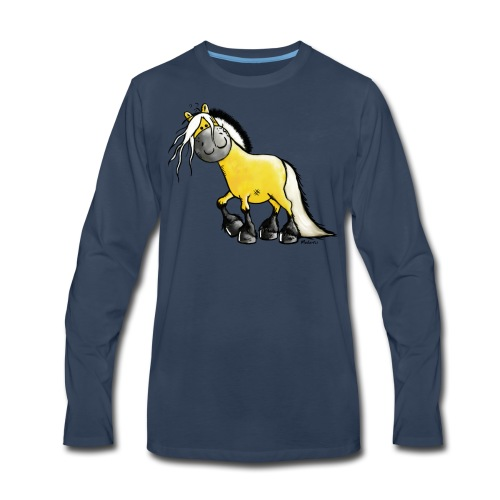 fjord horse - Men's Premium Long Sleeve T-Shirt