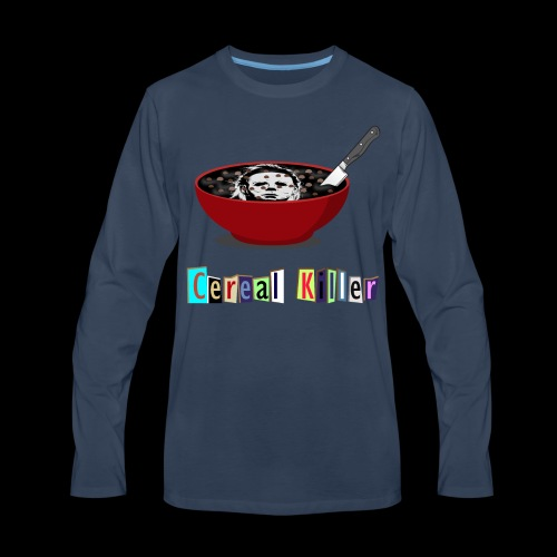 Cereal Killer | Funny Halloween Horror - Men's Premium Long Sleeve T-Shirt