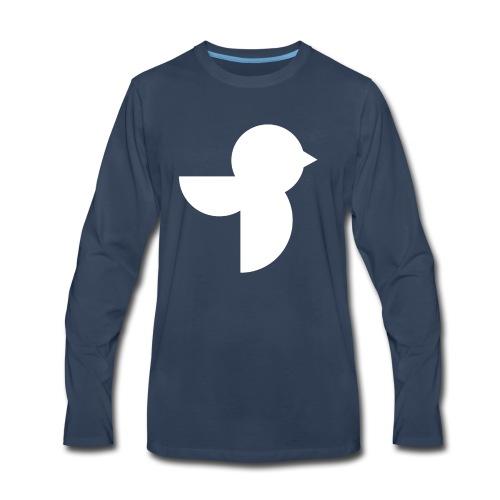 The White Sailea Logo - Men's Premium Long Sleeve T-Shirt