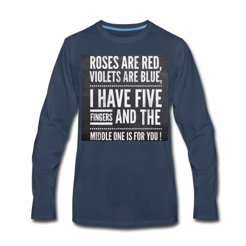 Typographic quoted tshirt - Men's Premium Long Sleeve T-Shirt
