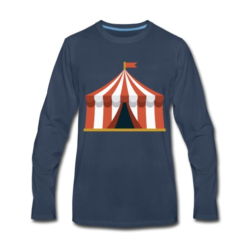 Striped Circus Tent - Men's Premium Long Sleeve T-Shirt