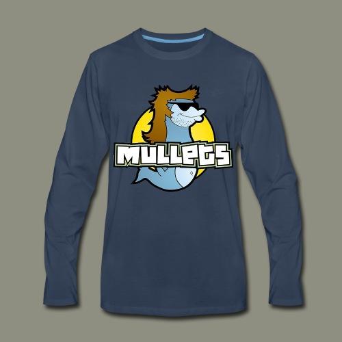 mullets logo - Men's Premium Long Sleeve T-Shirt