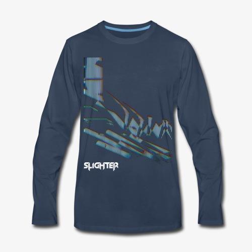 Vertical Glitch - Men's Premium Long Sleeve T-Shirt