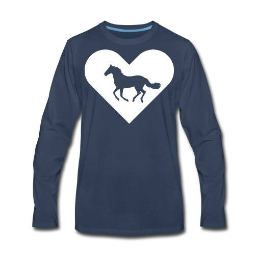 Heart-Horse (white) - Men's Premium Long Sleeve T-Shirt