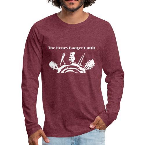 HBOutfit White Logo - Men's Premium Long Sleeve T-Shirt