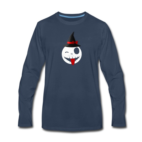 Halloween Emoticon - Men's Premium Long Sleeve T-Shirt