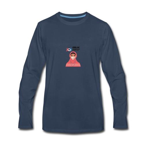 #BLM FIRST Muslim Woman BLM Supporter - Men's Premium Long Sleeve T-Shirt