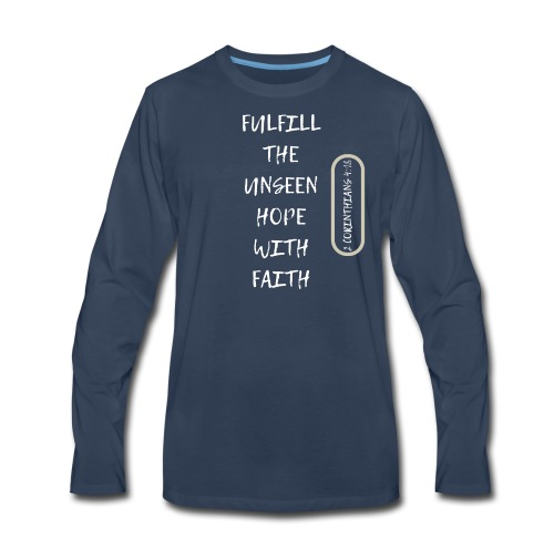 HOPE WITH FAITH - Men's Premium Long Sleeve T-Shirt