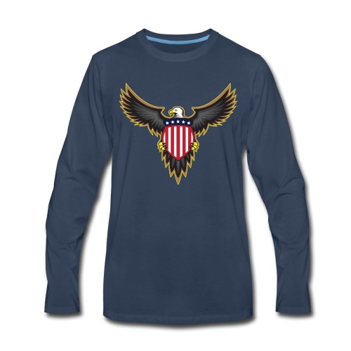 Patriotic American Bald Eagle - Men's Premium Long Sleeve T-Shirt