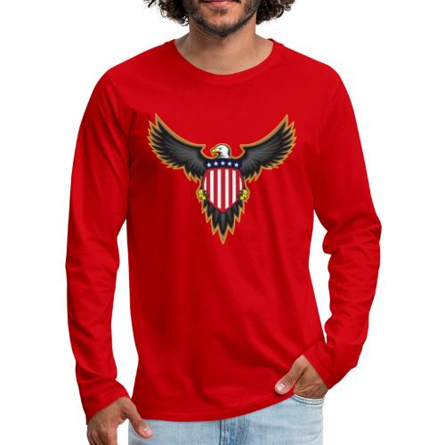 Patriotic American Bald Eagle - Men's Premium Long Sleeve T-Shirt