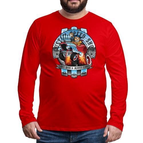 Custom Speed Shop Hot Rods and Muscle Cars Illustr - Men's Premium Long Sleeve T-Shirt