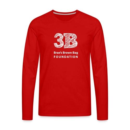 3b-square-logo-white-wosi - Men's Premium Long Sleeve T-Shirt
