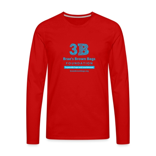 3b round png - Men's Premium Long Sleeve T-Shirt
