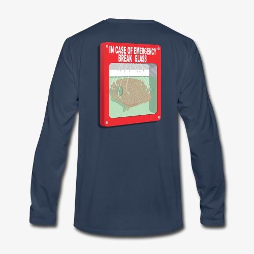 In case of emergency. Break glass and take a brain - Men's Premium Long Sleeve T-Shirt