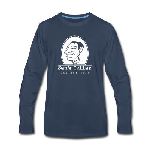 SamsCellar_White-logo - Men's Premium Long Sleeve T-Shirt