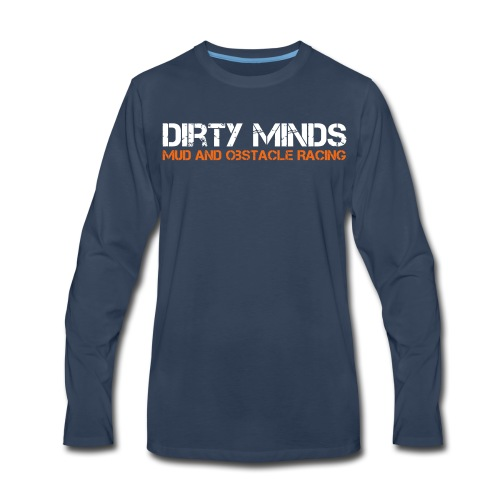 Dirty Minds Obstacle Racing Logo - Men's Premium Long Sleeve T-Shirt