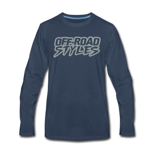Dirt Bike Throttle Out T-Shirts - Men's Premium Long Sleeve T-Shirt