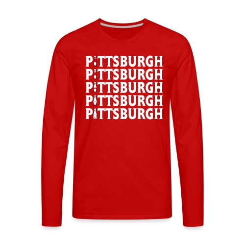 Ketch Up in PGH (Red) - Men's Premium Long Sleeve T-Shirt