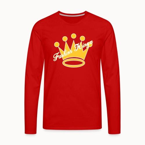 Fashion Kingz Clothing Official Crown Logo - Men's Premium Long Sleeve T-Shirt
