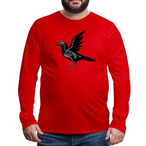 Skeleton Raven - Men's Premium Long Sleeve T-Shirt