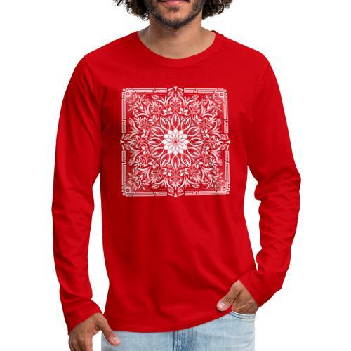 Psychedelic Mandala Geometric Illustration - Men's Premium Long Sleeve T-Shirt