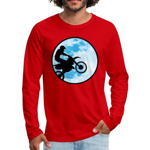 Motocross Motorcycle Blue Moon - Men's Premium Long Sleeve T-Shirt
