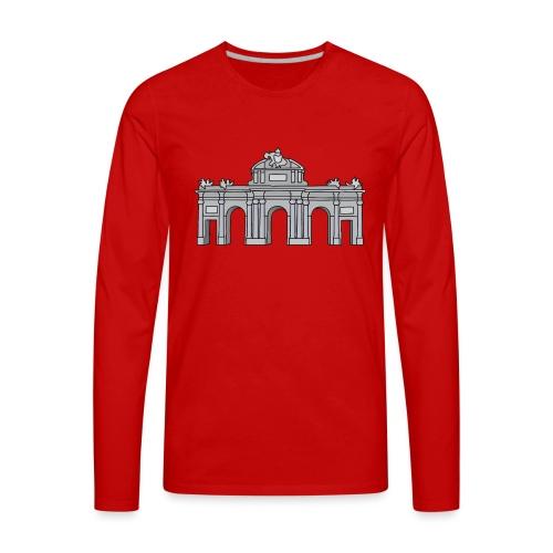 Puerta de Alcalá Madrid, Spain - Men's Premium Long Sleeve T-Shirt